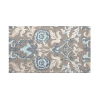 Laura Ashley Penelope Duck Egg Blue Jacquard Chenille Textured Accent Rug - (5 x 8 ft.)