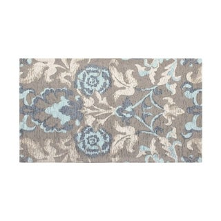 Laura Ashley Penelope Duck Egg Blue Jacquard Chenille Textured Accent Rug - 5 x 8 ft.