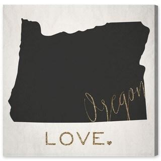 Oliver Gal 'Oregon Love' Canvas Art - Gold/Black