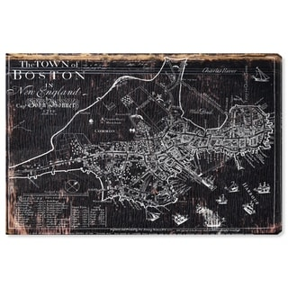 Hatcher and Ethan 'Town of Boston Map 1722' Canvas Art - Brown