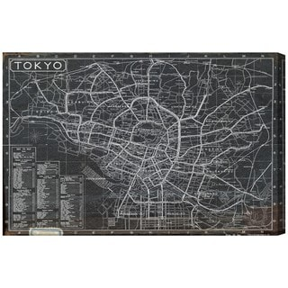 Hatcher and Ethan 'Tokyo Tourist Map 1918' Canvas Art - Black