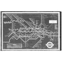 Hatcher and Ethan 'London Underground Map 1934' Canvas Art - Black/White