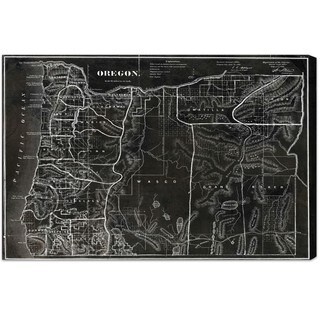 Hatcher and Ethan 'Map of Oregon 1866' Canvas Art