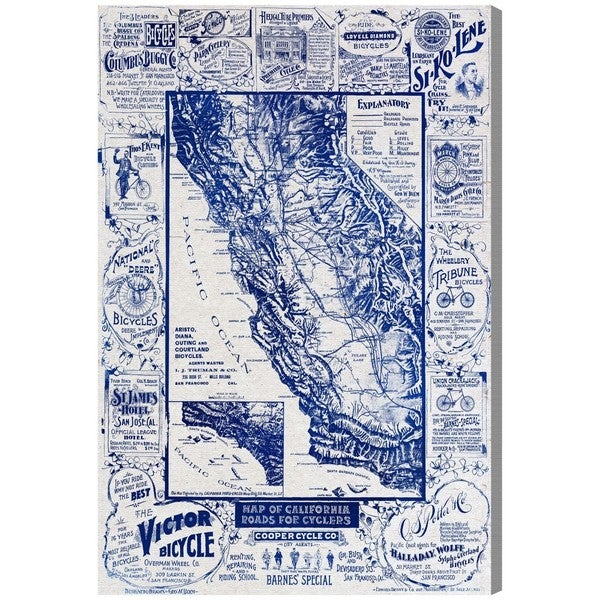 Hatcher and ethan map of california 1896 for cyclers blueprint hatcher and ethan x27map of california 1896 for cyclers blueprintx27 malvernweather Images