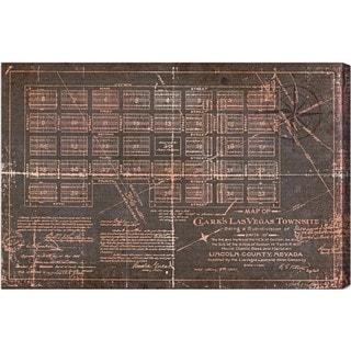 Oliver Gal 'Las Vegas Map' Canvas Art
