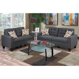 Bobkona Windsor Linen-Like Poly Fabric 2 Piece Sofa and Loveseat Set|https://ak1.ostkcdn.com/images/products/15219790/P21695257.jpg?impolicy=medium