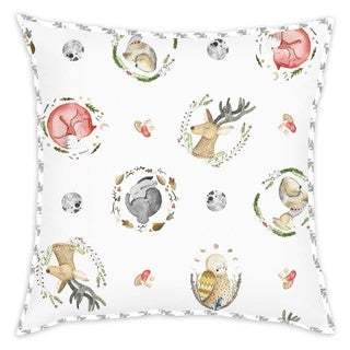Oliver Gal Signature Collection 'WOODLAND CRITTERS' Throw Pillow