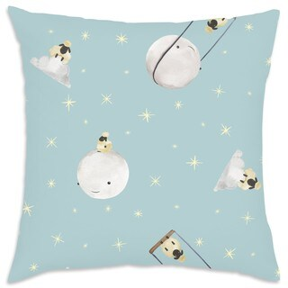 Oliver Gal Signature Collection 'SHEEP & MOON' Throw Pillow