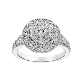 Cambridge 14k White Gold 1ct TDW Diamond Engagement Ring