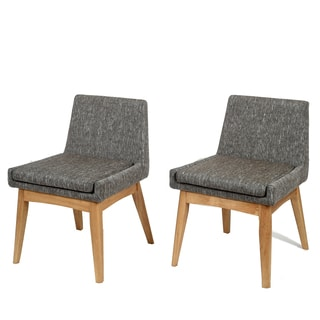 Ruby Mid-Century 2 Piece Living Room Dining Chair Set, Coral Textile Dark
