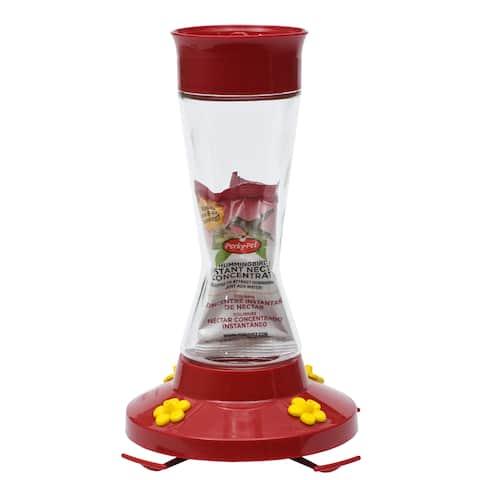 Perky Pet 16 Oz Clear Glass Hummingbird Feeder