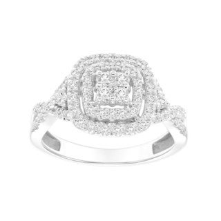 Cambridge 14k White Gold 1/2ct TDW Diamond Engagement Ring