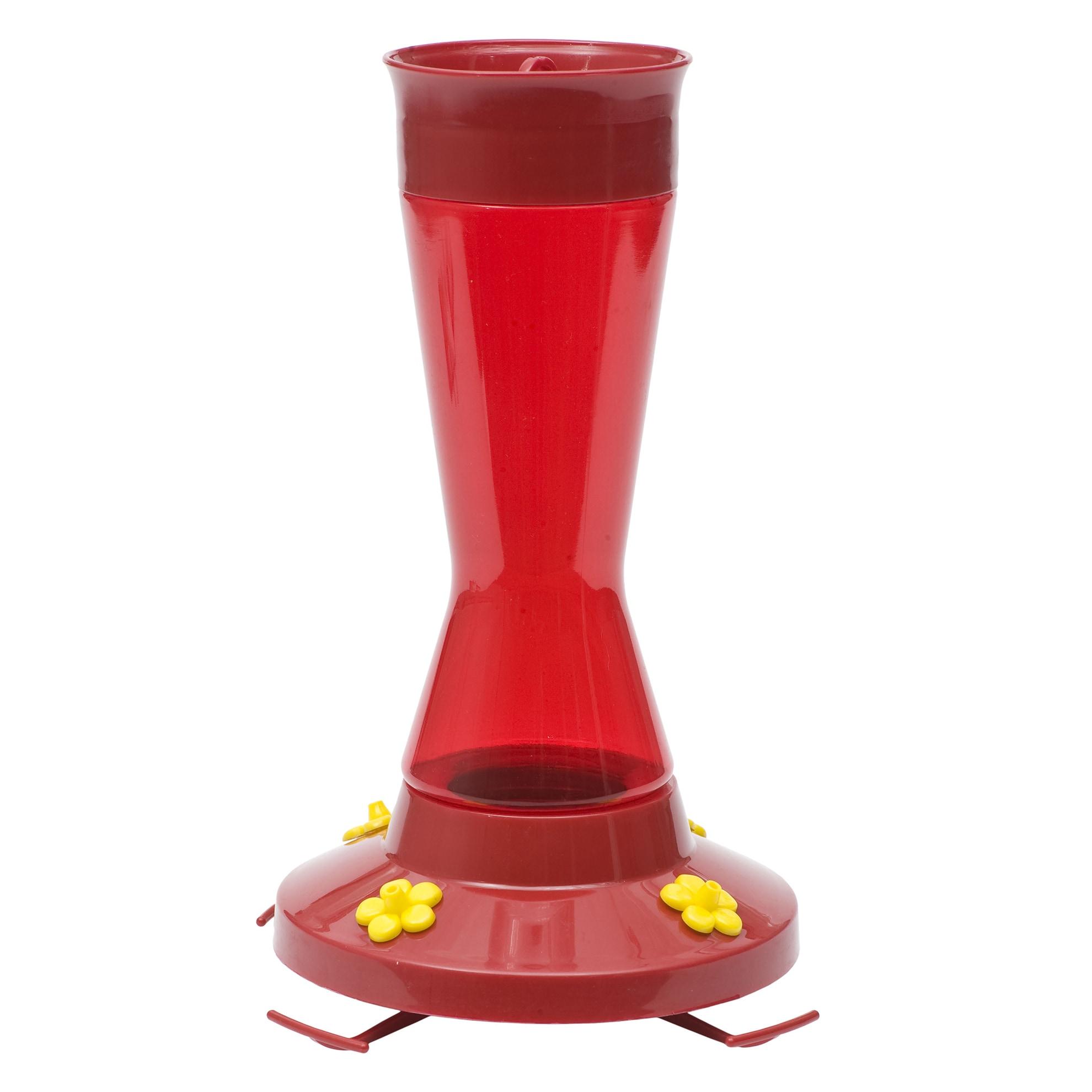 Perky-Pet 16 Oz Red Plastic Pinch Waist Hummingbird Feede...