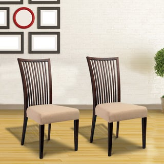 Cynthia Mid-Century 2 Piece Living Room Dining Chair Set, Khaki Textile