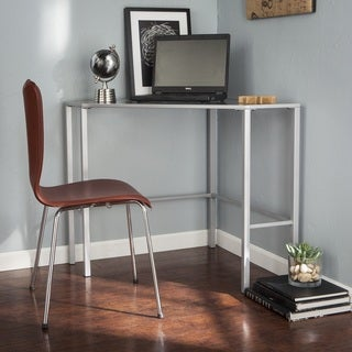 Harper Blvd Kemble Metal/Glass Corner Desk - Silver
