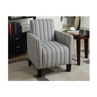 Bobkona Drake Modern Floral Print Chenille/Wood/Foam Accent Chair