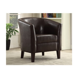Bobkona Denzil Faux Leather Club Chair