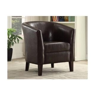 Bobkona Denzil Faux Leather Club Chair