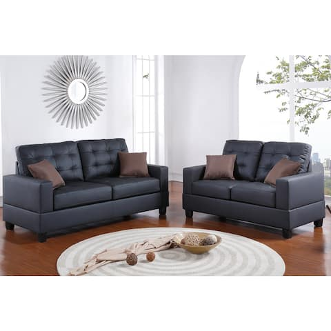 Bobkona Aria 2 Piece Sofa and Loveseat Set