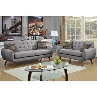 black living room furniture set. Bobkona Sonya Linen Like 2 Piece Sofa and Loveseat Set Black Living Room Furniture Sets For Less  Overstock com
