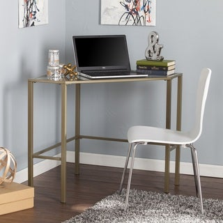Harper Blvd Kemble Metal/Glass Corner Desk - Matte Khaki