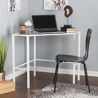 Harper Blvd Kemble Metal/Glass Corner Desk - White
