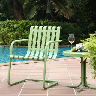 Crosley Gracie Green Stainless Steel Chair