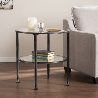 Harper Blvd Jensen Metal/Glass Round End Table - Black