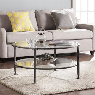 Harper Blvd Jensen Metal/Glass Round Cocktail Table - Black