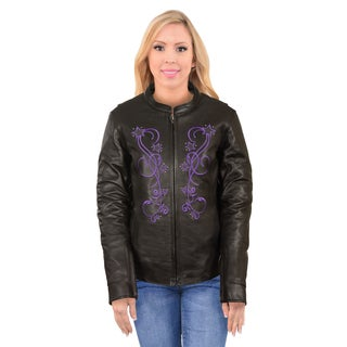 Women's Reflective Star Jacket with Rivet Detailing
