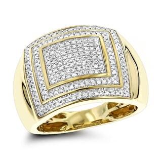 Luxurman 1/2 Carat 10K Gold Diamond Ring for Men (H-I; I1-I2)