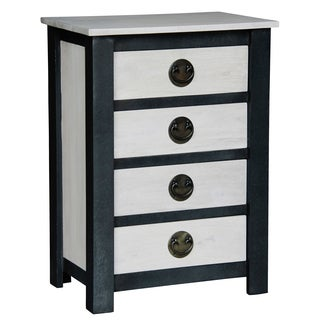 Handmade NES Fine Furniture Solid Mahogany Wood Irvine Nightstand / Bedside Table - 32 inches