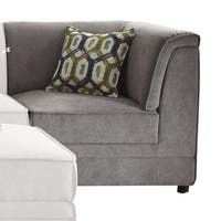 ACME Bois Grey Velvet Corner Wedge with Pillow