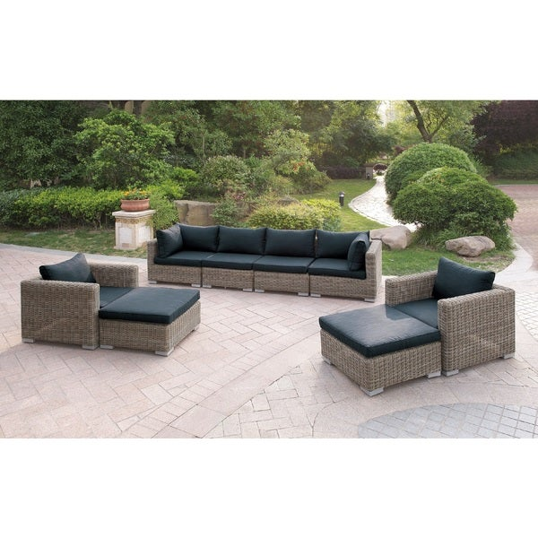 Oakland Living Indoor Black And White Ladder Back 5 Piece: Shop Harvey 8 Piece Patio Sofa Set I With Cushions