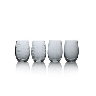 Mikasa Cheers Smoke 17 Oz Stemless Wine Set Of 4
