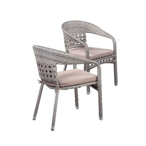 Boraam Industries Grey Carmen Chair (Set of 2)