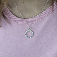 Twobirch Sterling Silver Circle of Life 'I Love You Always' Mother's Day Pendant Necklace