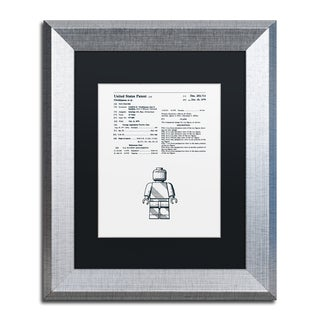 Claire Doherty 'Lego Man Patent 1979 White' Matted Framed Art