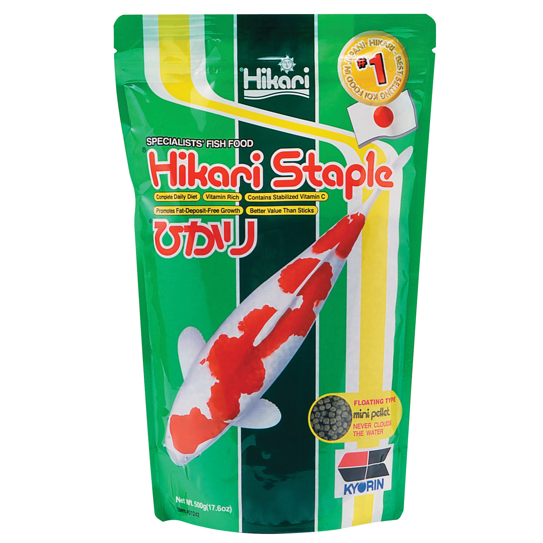 Hikari Sales 17.6 Oz Hikari Staple Mini Pellets Pond Food...