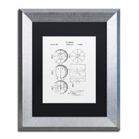 Claire Doherty 'Basketball Patent 1929 White' Matted Framed Art