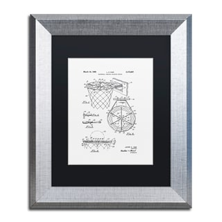 Claire Doherty 'Basketball Hoop Patent 1965 White' Matted Framed Art