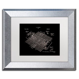 Claire Doherty 'Basketball Court Game Patent Black' Matted Framed Art