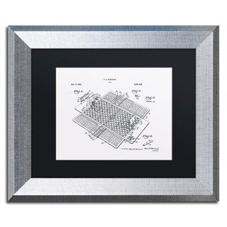 Claire Doherty 'Basketball Court Game Patent White' Matted Framed Art
