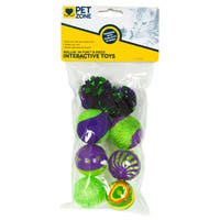 Pet Zone Rollin' In Fun Interactive Cat Toys 8 Piece Set