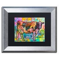 Dean Russo 'Cow' Matted Framed Art