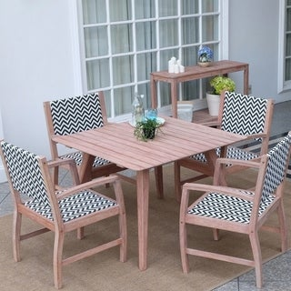 Cambridge Casual Astoria Weathered Reddish Brown Mahogany Wood 5-piece Dining Set
