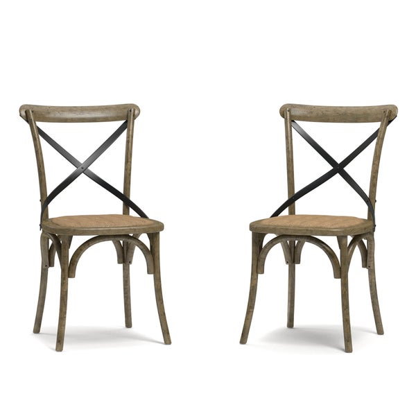 Country Kitchen Fairbanks: Handy Living Fairbanks Medium Oak Dining Chairs (Set Of 2