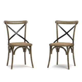 Handy Living Fairbanks Medium Oak Dining Chairs (Set of 2)
