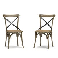 Handy Living Fairbanks Medium Oak Dining Chairs (Set of 2)