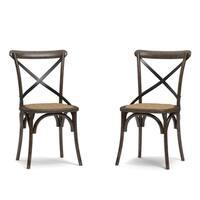 Handy Living Fairbanks Walnut Dining Chairs (Set of 2)